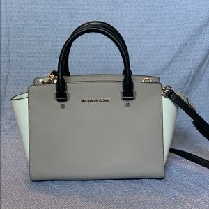 Michael Kors Neutral Color Block Purse